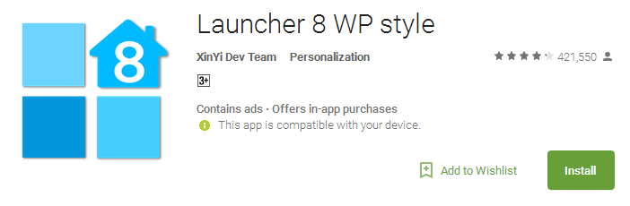 Download Launcher 8 WP style