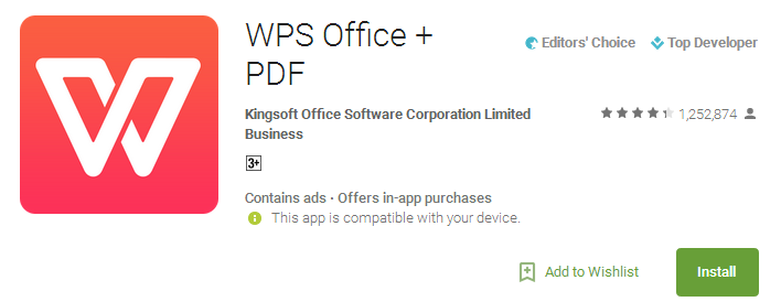Download WPS Office + PDF App