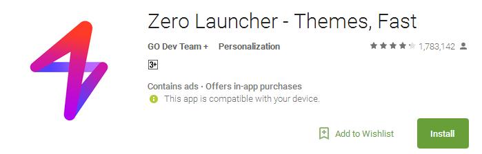 Download Zero Launcher App