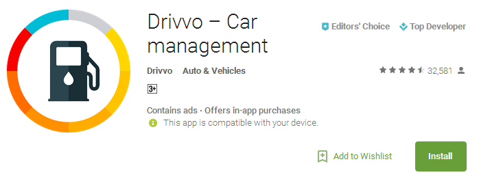 Drivvo Car management App