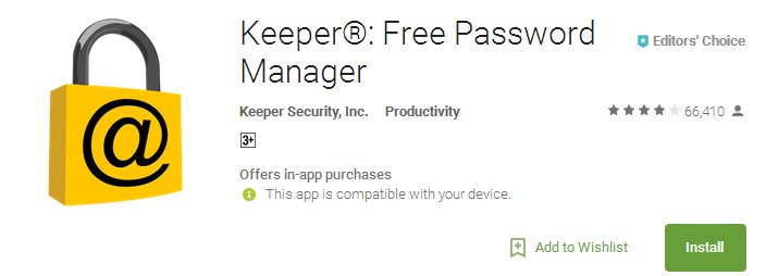 Keeper App Free Password Manager