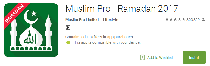 Muslim Pro Ramadan 2017