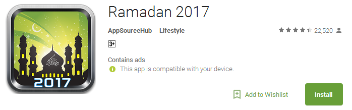 Download Ramadan 2017 App