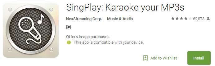 SingPlay - Karaoke your MP3s