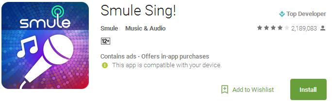 Smule Sing App