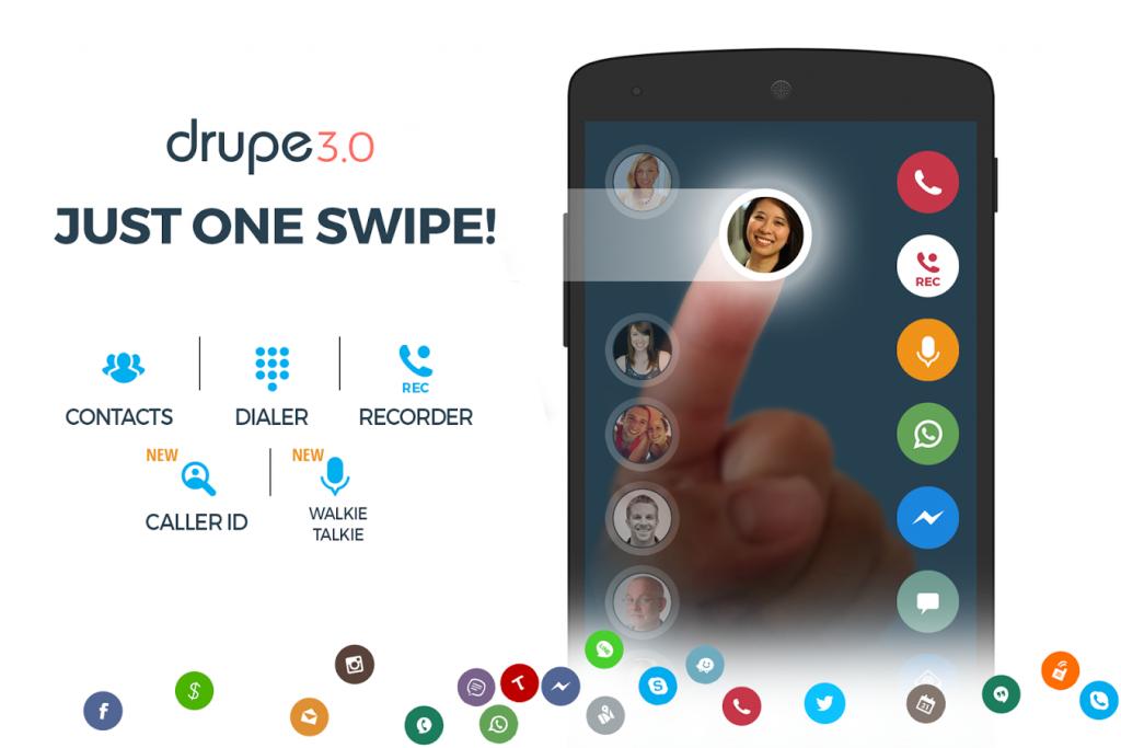 drupe dialer App