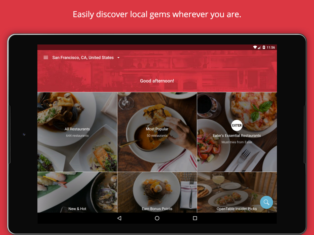 Use OpenTable App