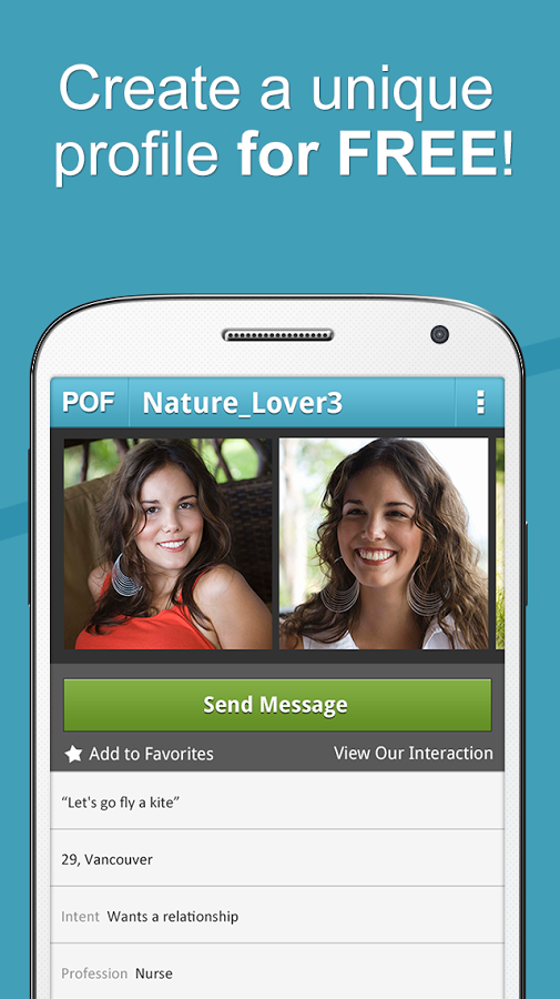 Create account for POF free dating app