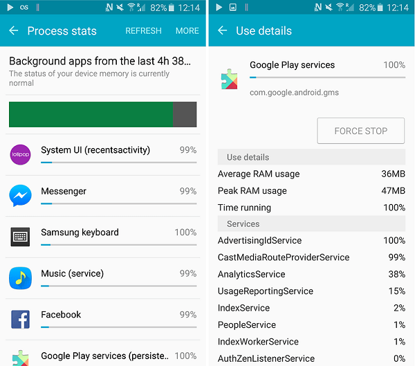How to stop Android apps running