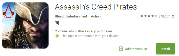Assassin's Creed Pirates - Without wifi game