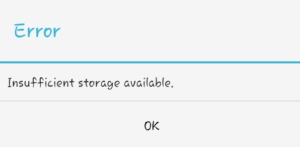 How to fix Insufficient storage space
