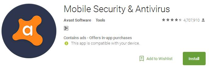 Mobile Security & Avast Antivirus