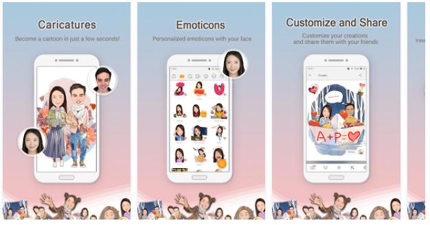 MomentCam Cartoons App