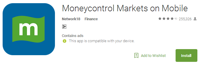 Moneycontrol Markets on Mobile