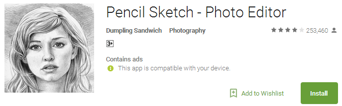 Pencil Sketch - Photo Editor App