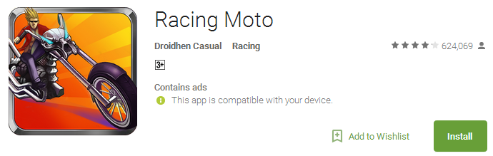 Racing Moto - no Wi-Fi games