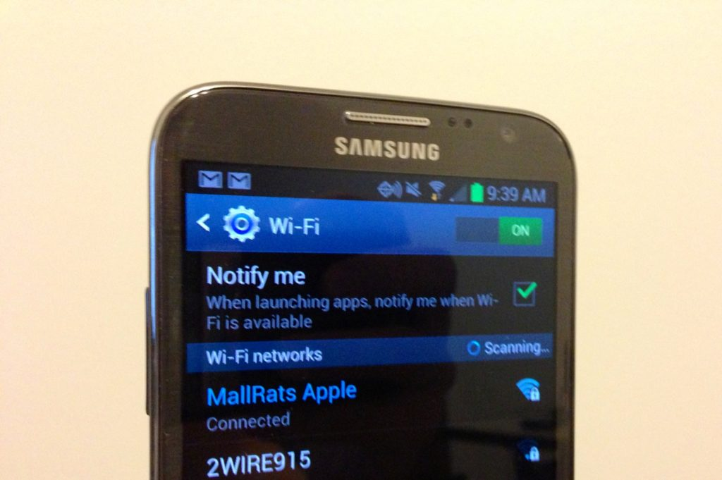 android phone Wi-Fi stucks