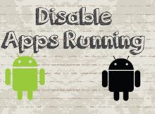 disabling the background Android apps