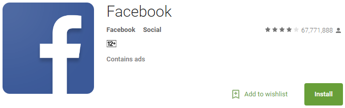 Download Facebook Android app