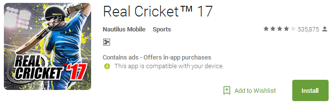 Download Real Cricket 17