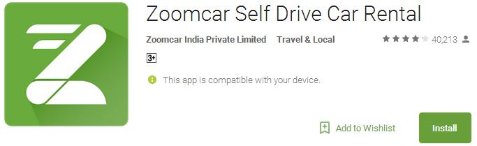 Download Zoomcar Self Drive Car Rental