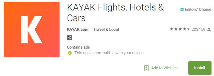 KAYAK Flights Hotels & Cars