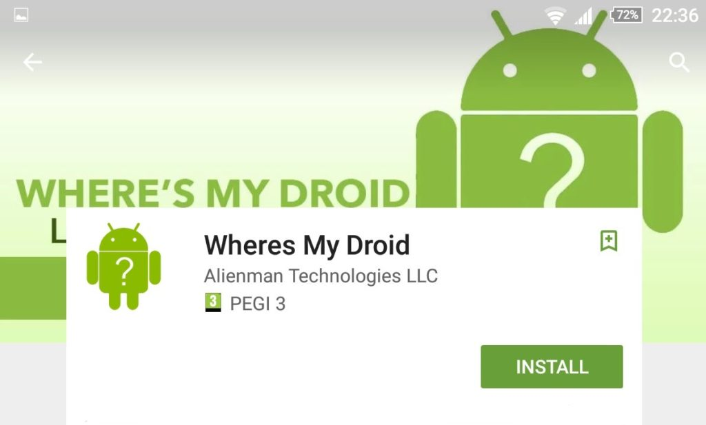 where's my droid app for Android
