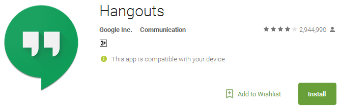 Download Hangouts App