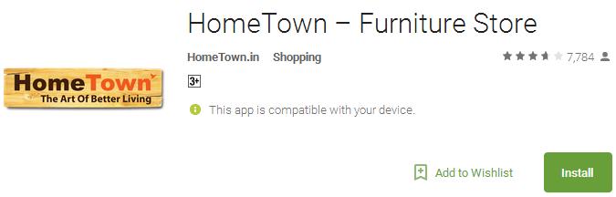 HomeTown – Furniture App Store