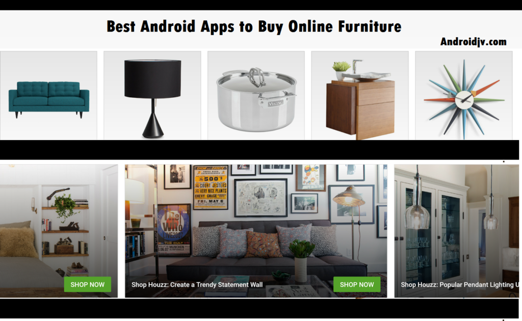 Best Android Apps to Buy Online Furniture