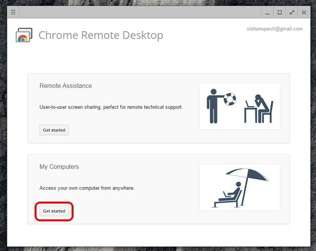 use chrome remote desktop