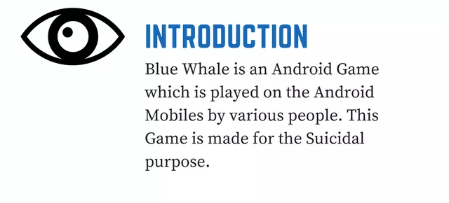 Blue Whale Game Suicide Challenge