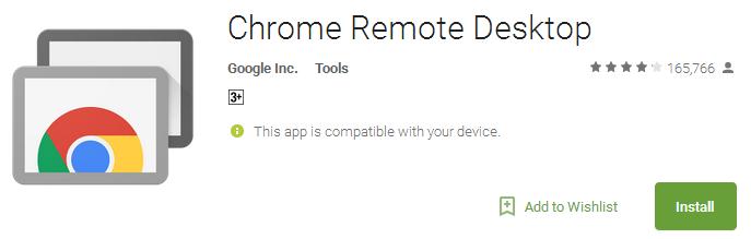 Download Chrome Remote Desktop