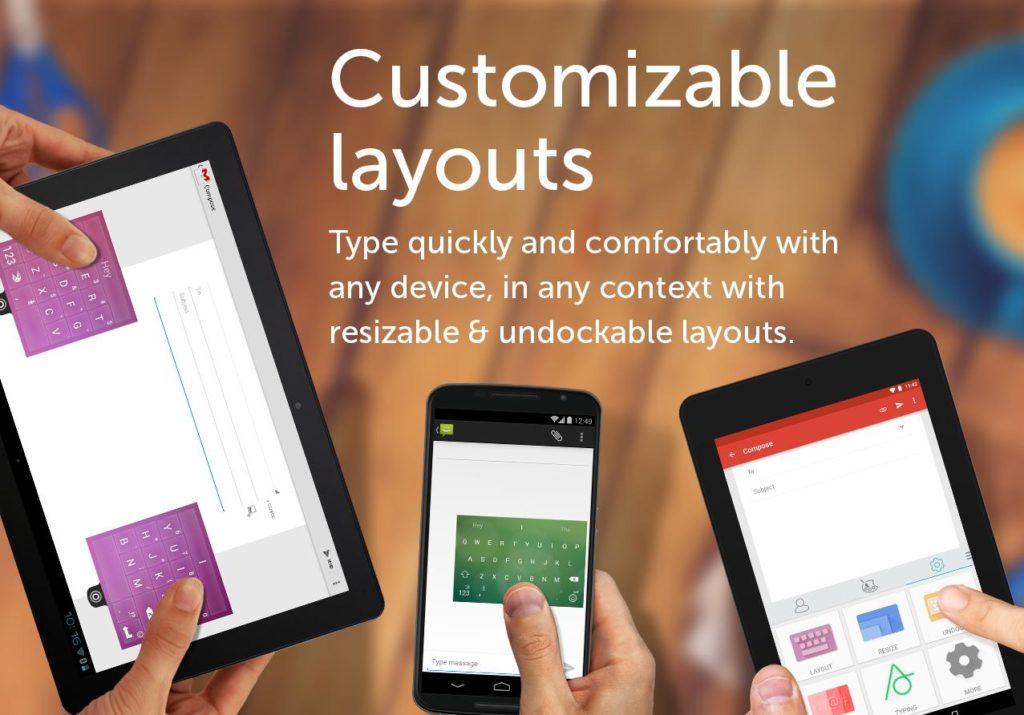 Changing the layout SwiftKey Keyboard