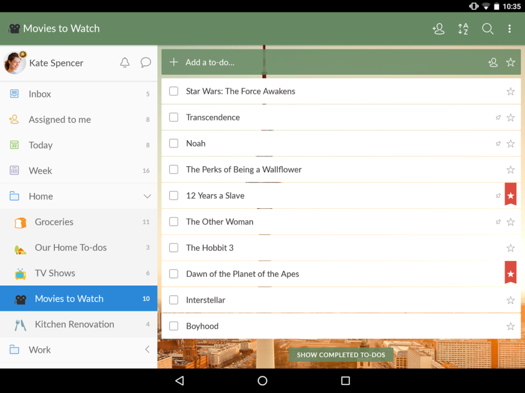 How to use Wunderlist app for Android