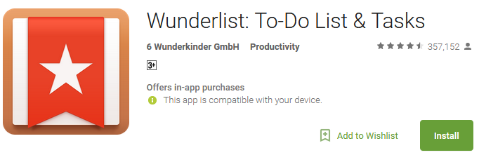 Wunderlist To Do List & Tasks