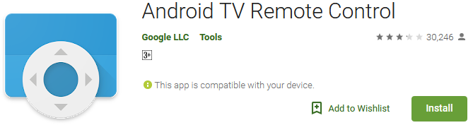 Download Android TV Remote Control App