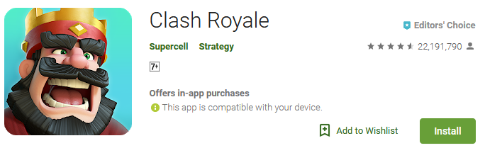 Download Clash Royale Game app