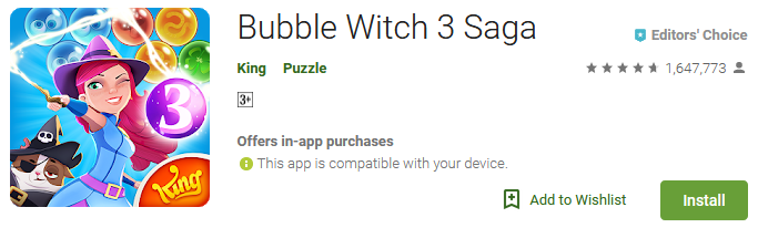 bubble witch 3 saga game download