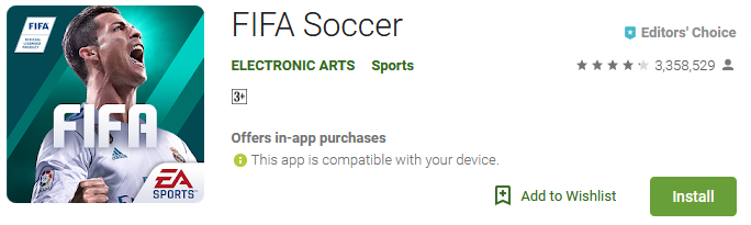 fifa soccer game app download