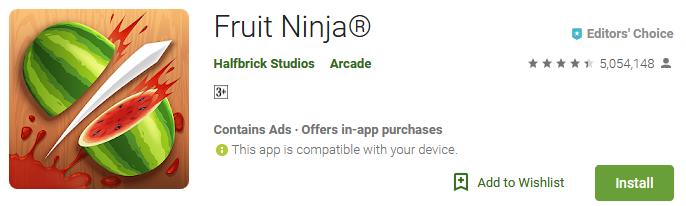 fruit ninja game download