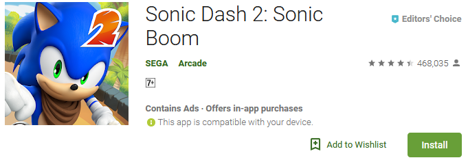 sonic dash 2 sonic boom download