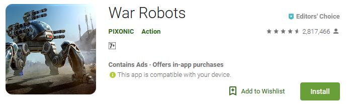 walking war robots download