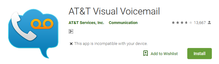 Download AT&T Visual Voicemail app