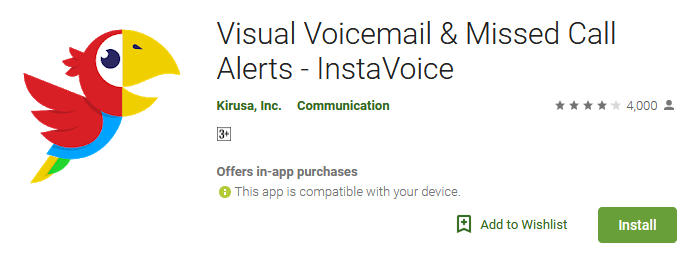 InstaVoice Free Unlimited Visual Voicemail App