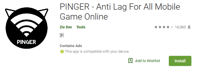 PINGER Mobile Game Online
