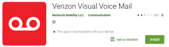 Verizon Visual Voice Mail