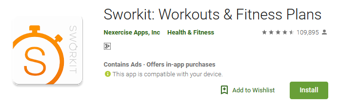 Download Sworkit - Workouts & Fitness Plans
