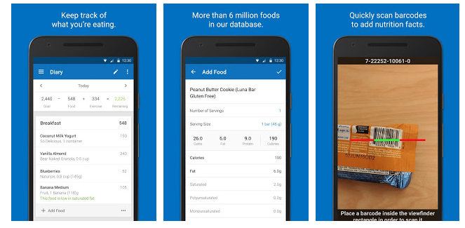 Free Download Calorie Counter - MyFitnessPal app