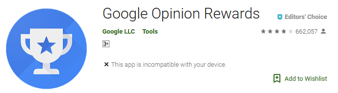 Download Google Opinion Rewards App